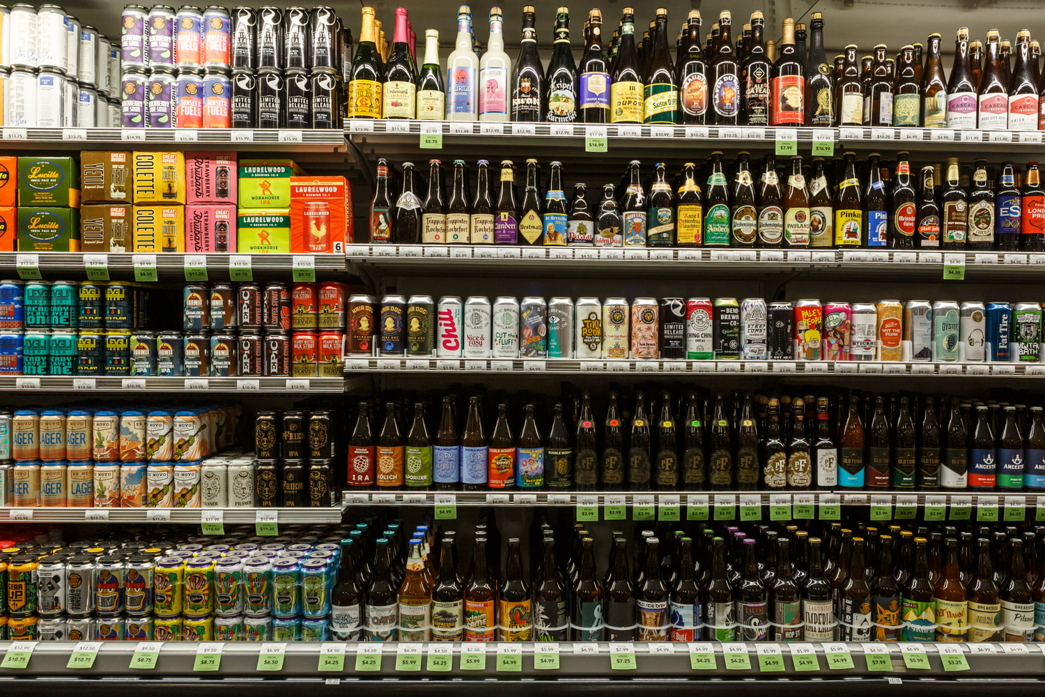 large beer selection available at Zupan's Markets Burnside