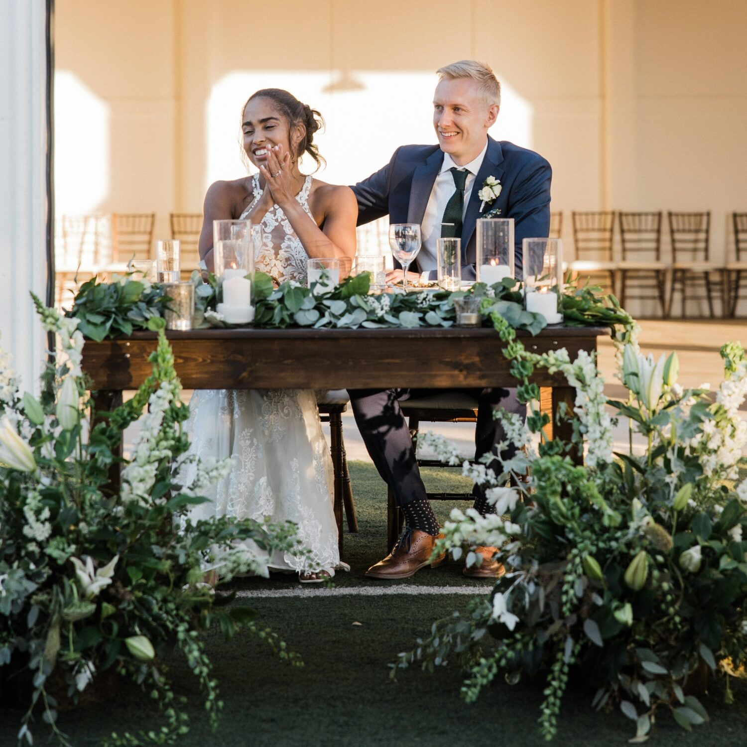 photo of a wedding with flowers from Zupan's