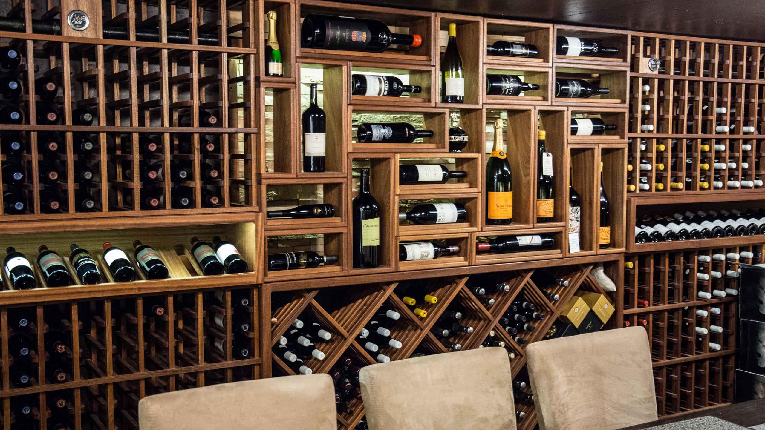 Lake Grove Cellar Z wine cellar