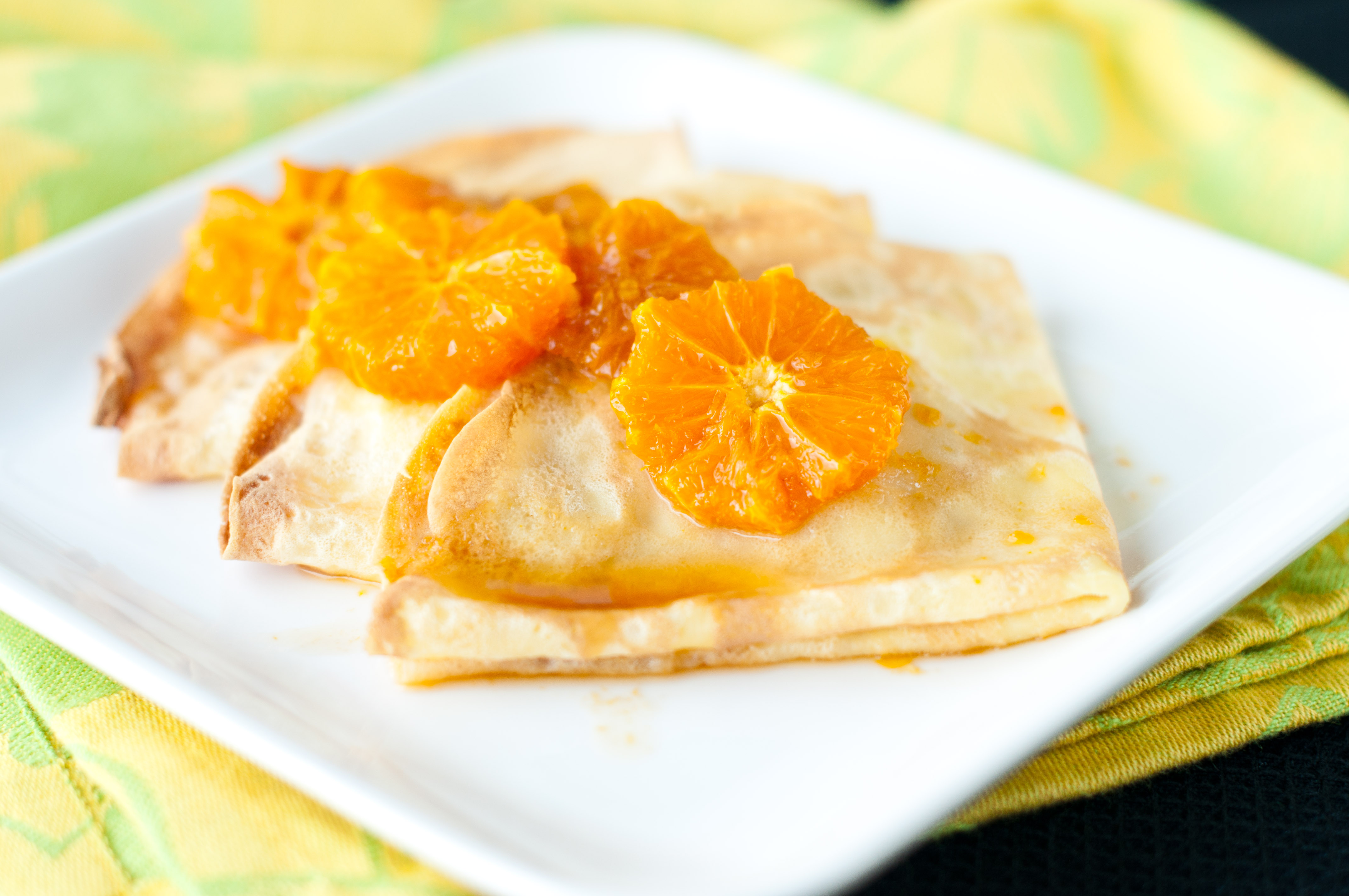 clementine ricotta crepes with honey clementine sauce ricotta cream ...
