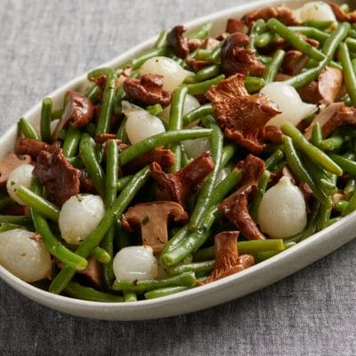 French Green Beans with Roasted Chanterelles