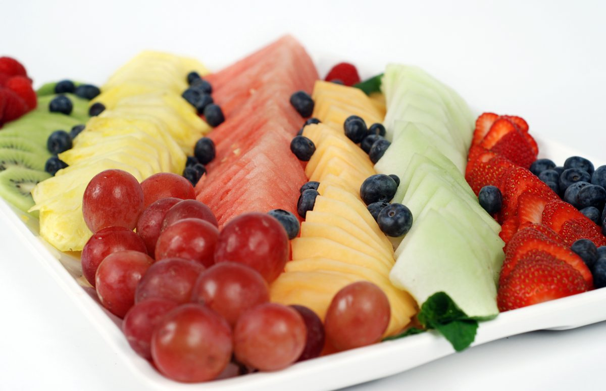 fruit platter fruit water