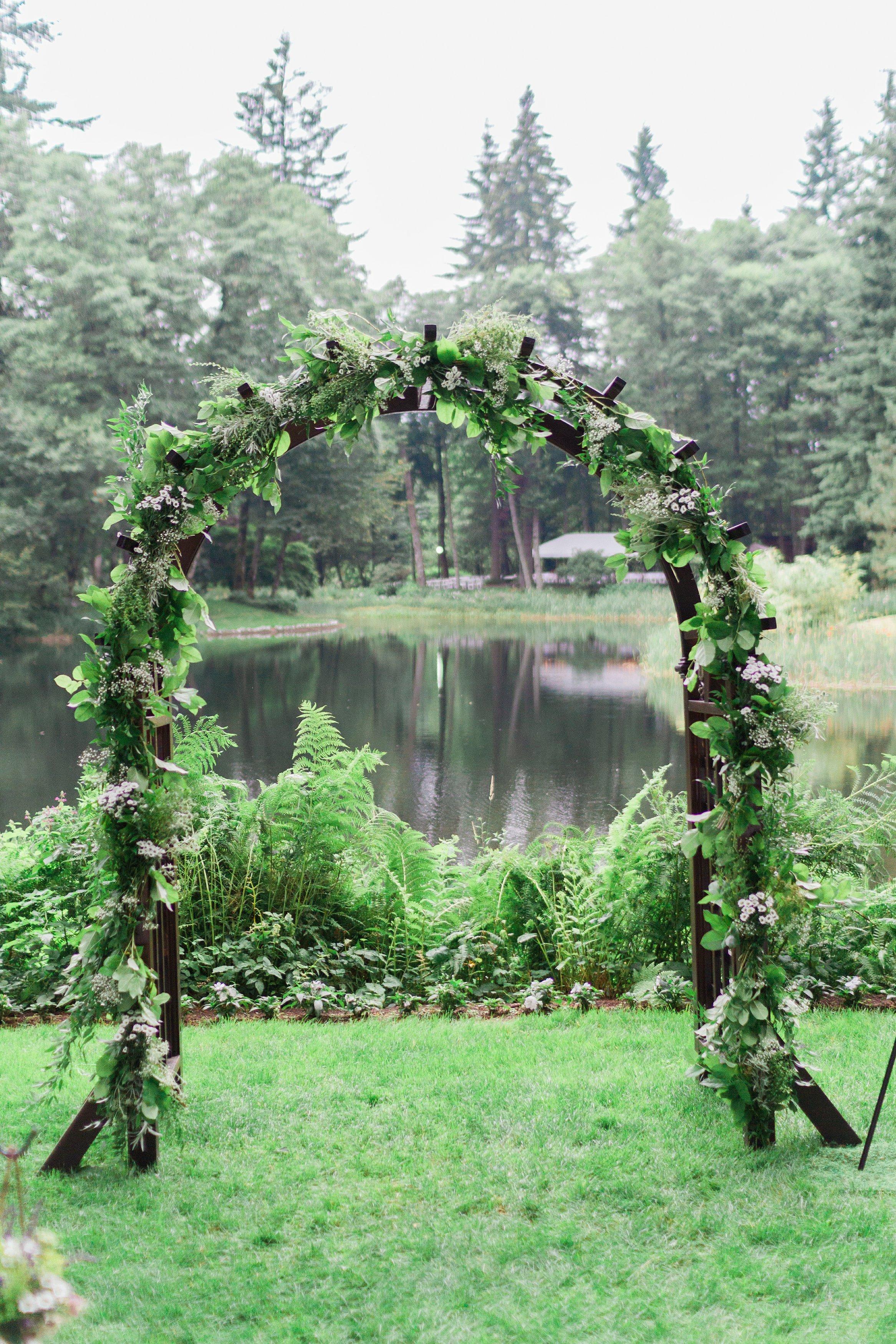 Archway at Jamie & connor's wedding