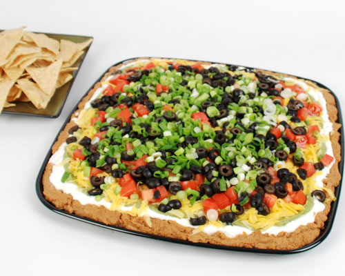 mexican layered dip tray