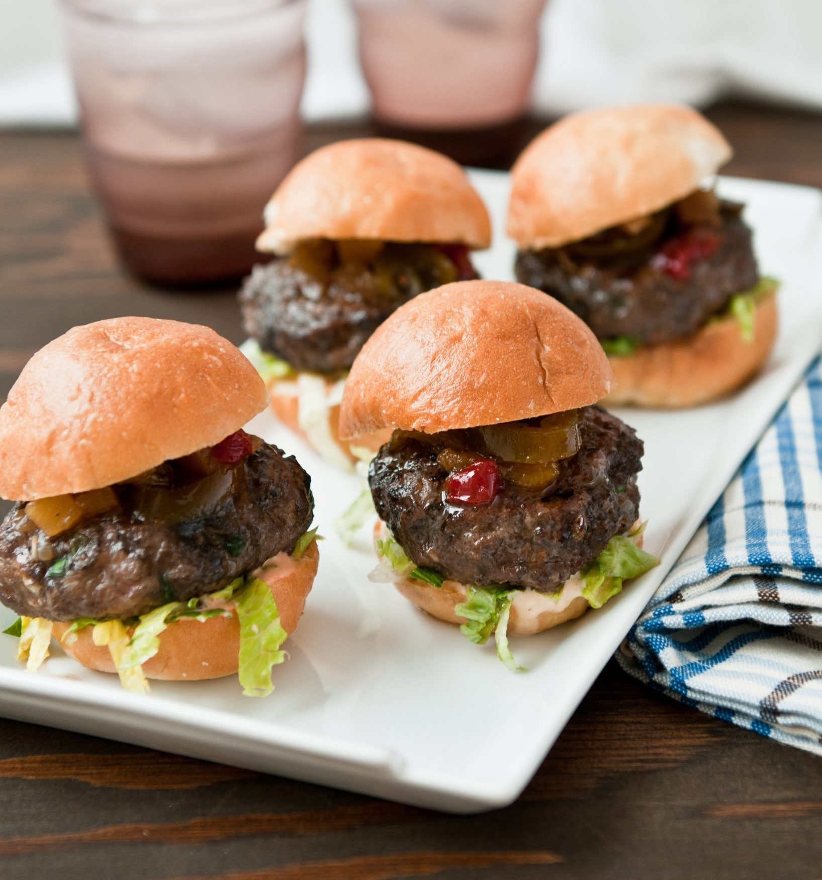 Grilled Pineapple & Jalapeño Beef Sliders