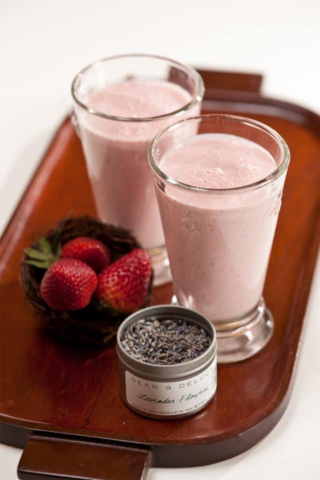 Strawberry Lavender Milkshake