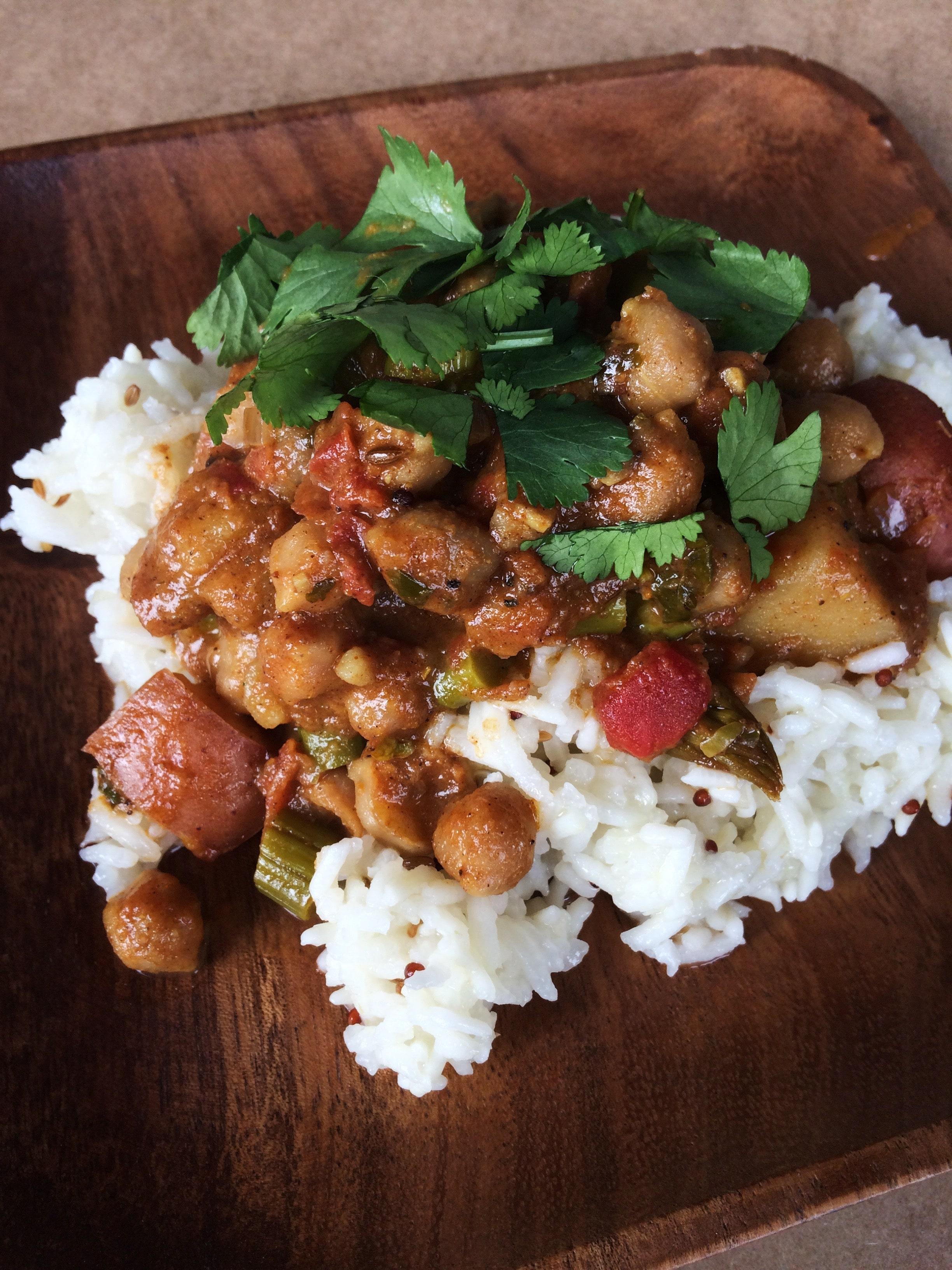 Chana Aloo Masala (Chickpea and Potato Curry)