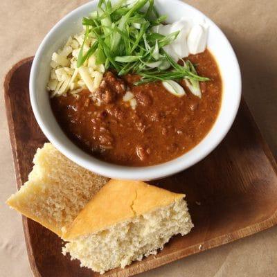 chili and cornbread