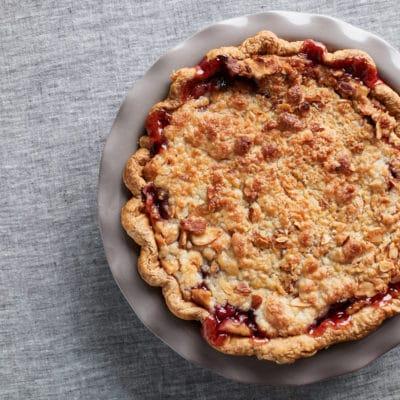 Cherry Almond Crumble Pie