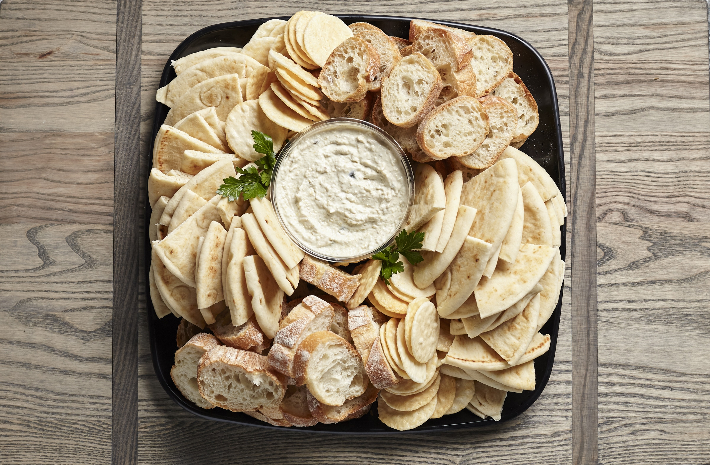 Artichoke Dip tray from Zupans catering