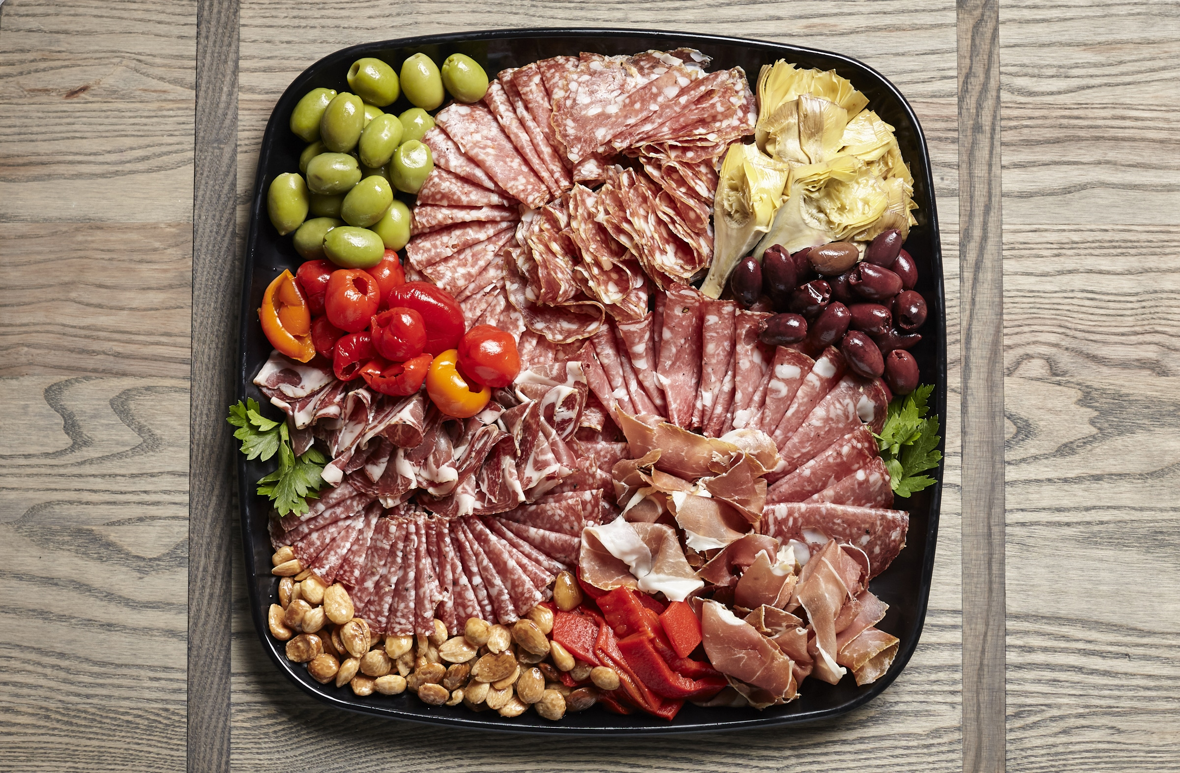 catering charcuterie tray from Zupans