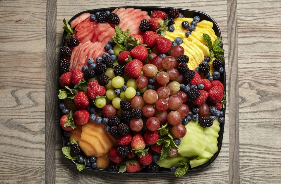 catering fruit platter from Zupans