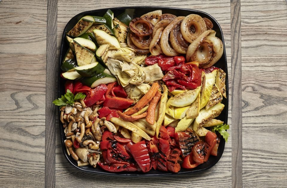 roasted vegetable tray from Zupans