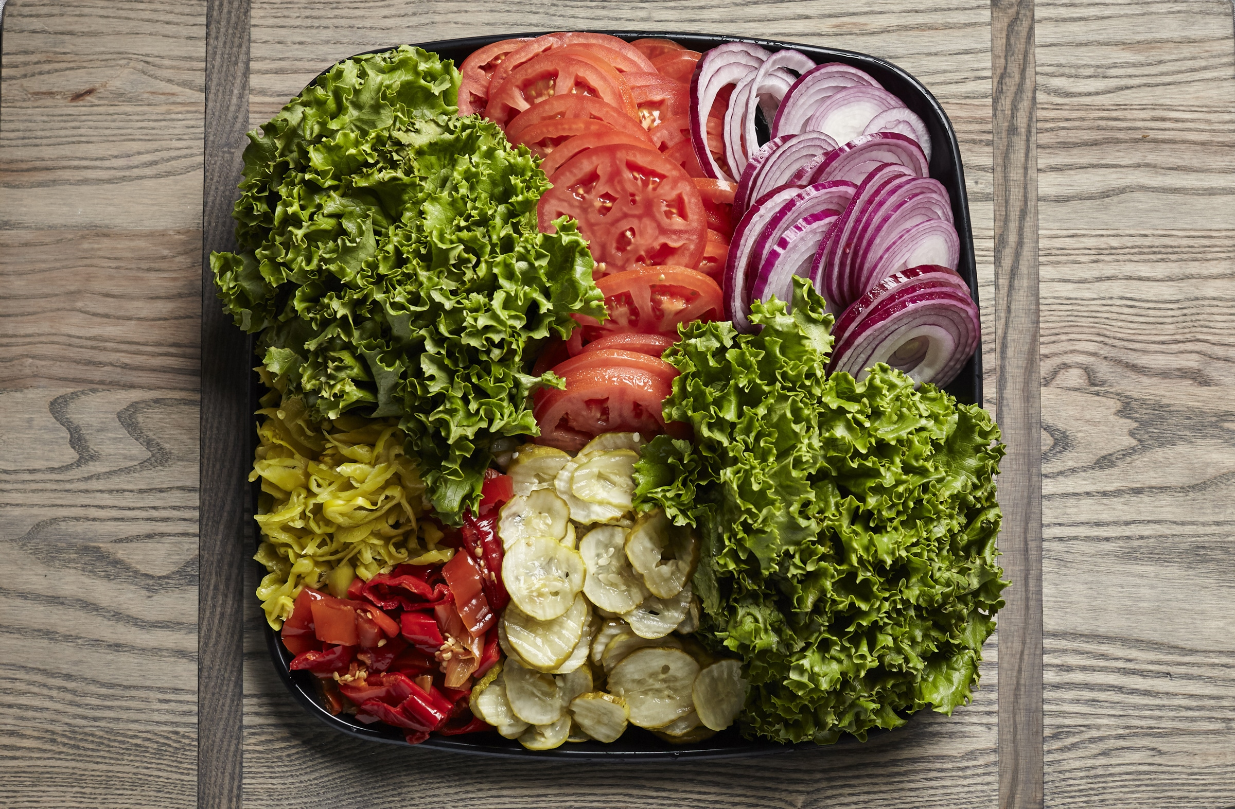 sandwich vegetables catering tray from Zupans