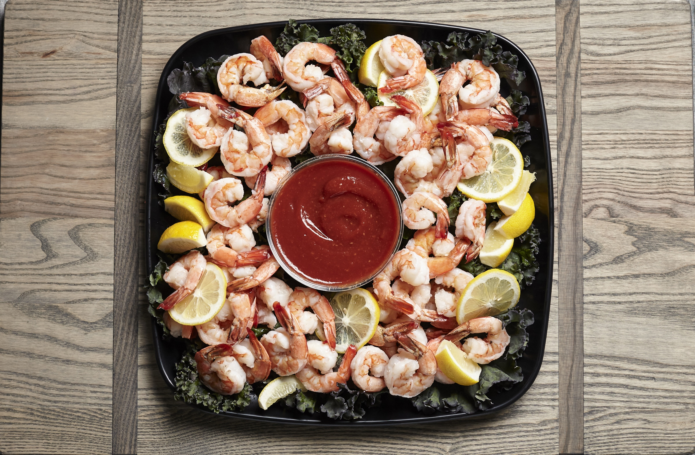 cocktail shrimp catering tray from Zupans
