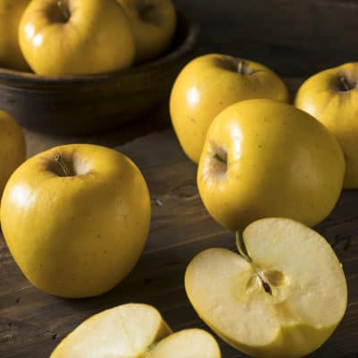 Raw Yellow Organic Opal Apples