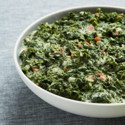 Creamed Kale & Spinach