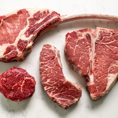 4 different local steak cuts available at Zupan's Markets meat departments