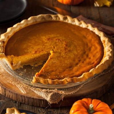 Festive Homemade Pumpkin Pie