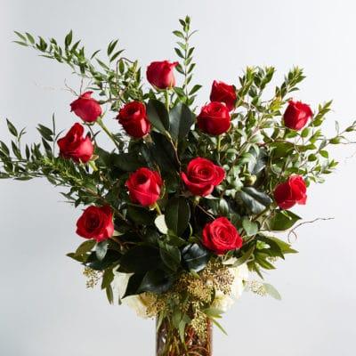 A Dozen Roses Floral Arrangement