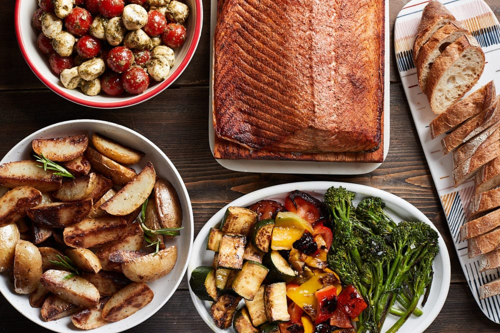 Salmon Dinner with Sides
