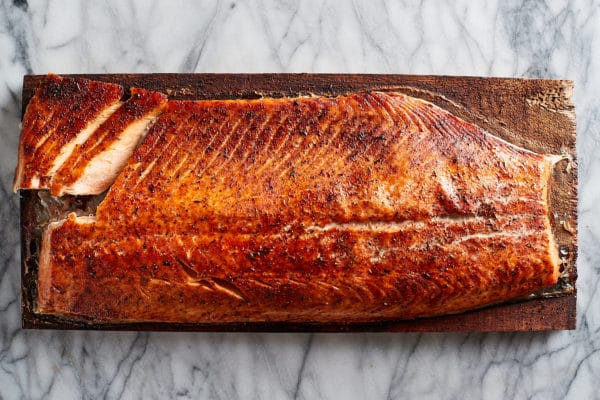 Roasted Salmon on Cedar Plank