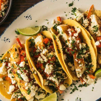 seared halibut tacos