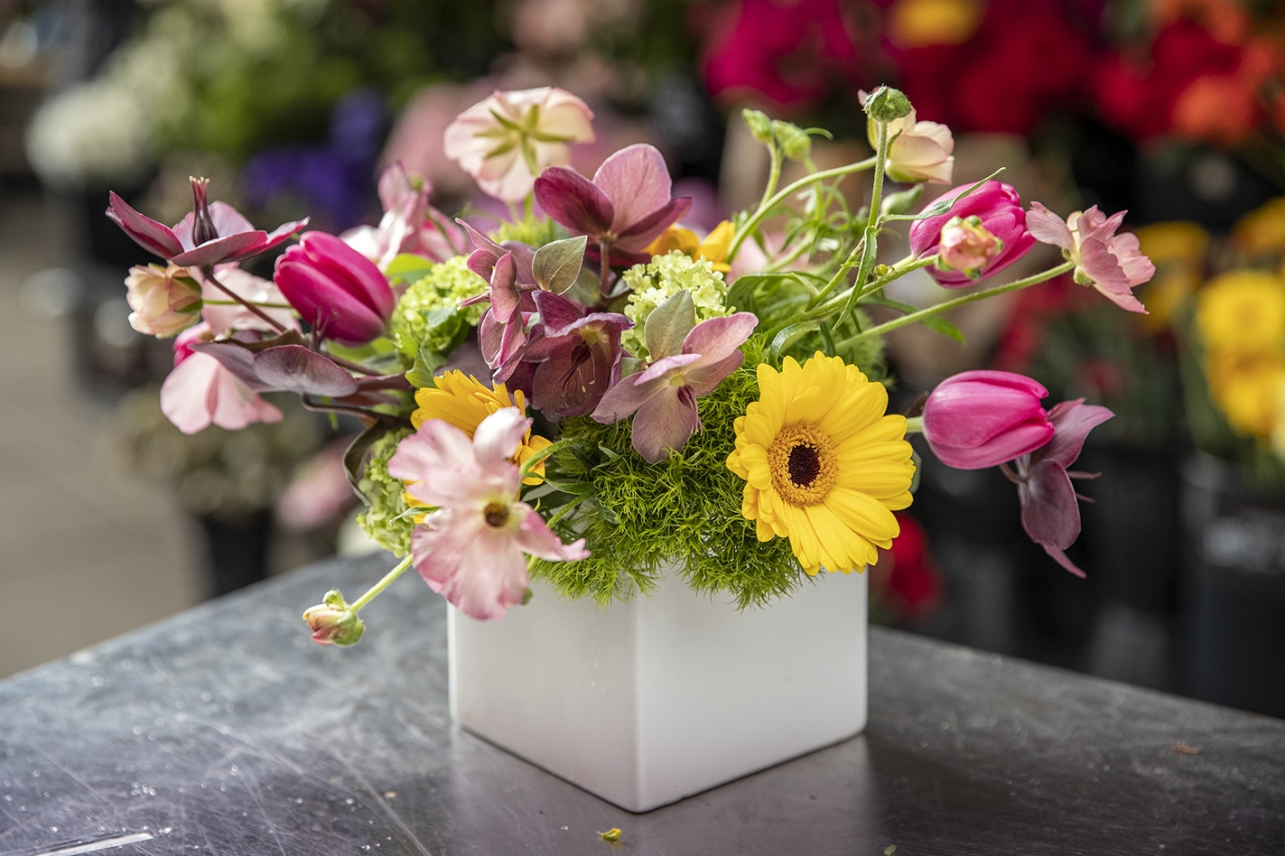 Colors of Spring Floral Arrangement