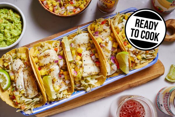 ready to cook halibut tacos dinner kit from Zupan's