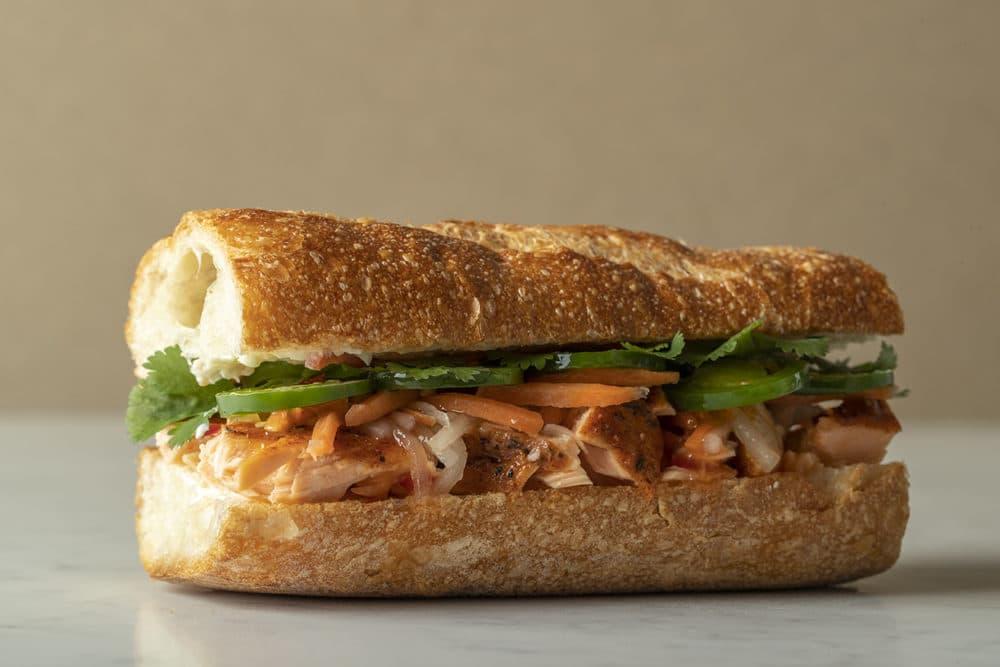 Salmon Banh Mi Sandwich