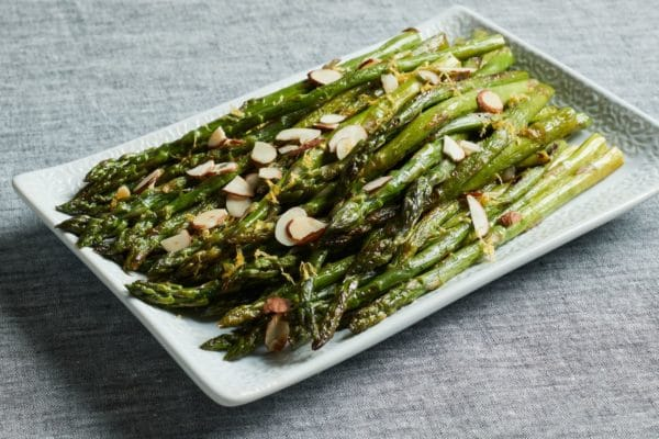 roasted asparagus and almonds for sale at Zupan's Markets