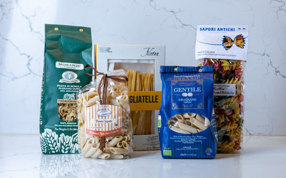 different varieties of Italian-made pastas available at all Zupan's Markets locations