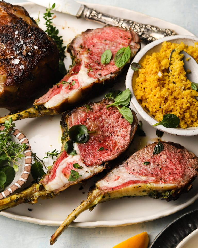 lamb chops with couscous from Zupan's Markets