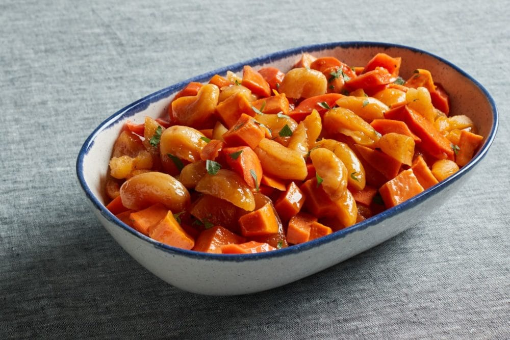 roasted sweet potatoes and apricots for Passover