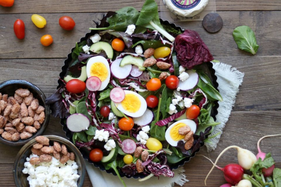 celebration salad with goat cheese from Zupan's Markets
