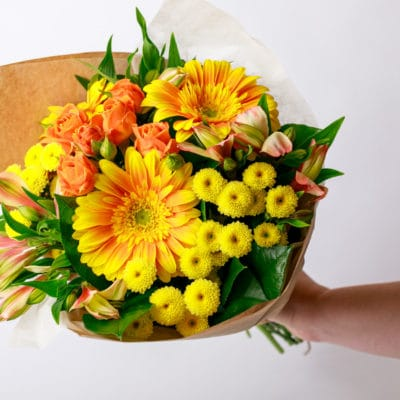 Mother's Day Yellow Handtied Bouquet