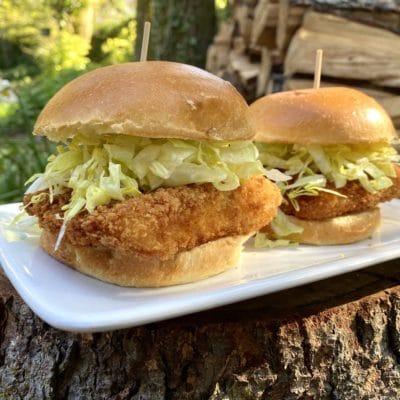 Crispy Panko Crusted Halibut Sandwiches
