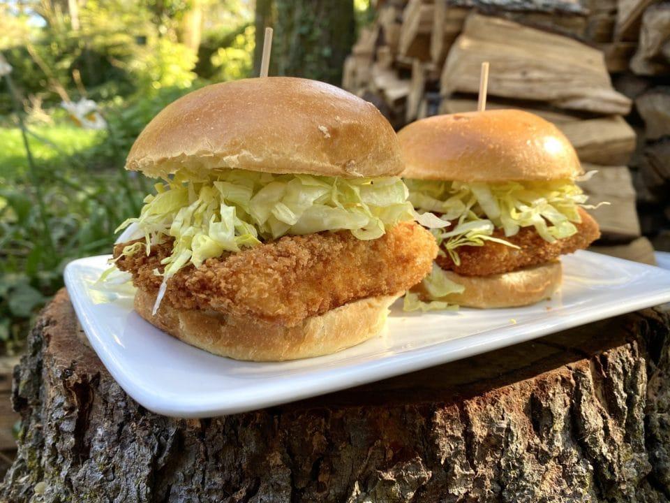 crispy halibut sandwiches