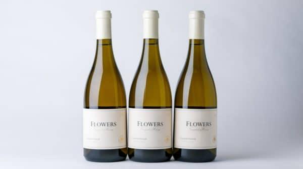 3 bottles of Flowers wine