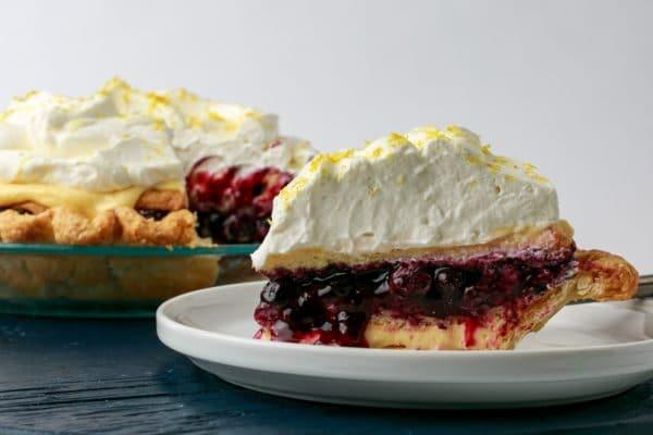 slice of blueberry victoria pie from Zupan's Markets