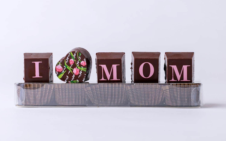 I heart Mom chocolate truffles