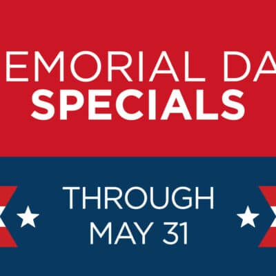 Memorial Day Specials banner for Zupan's