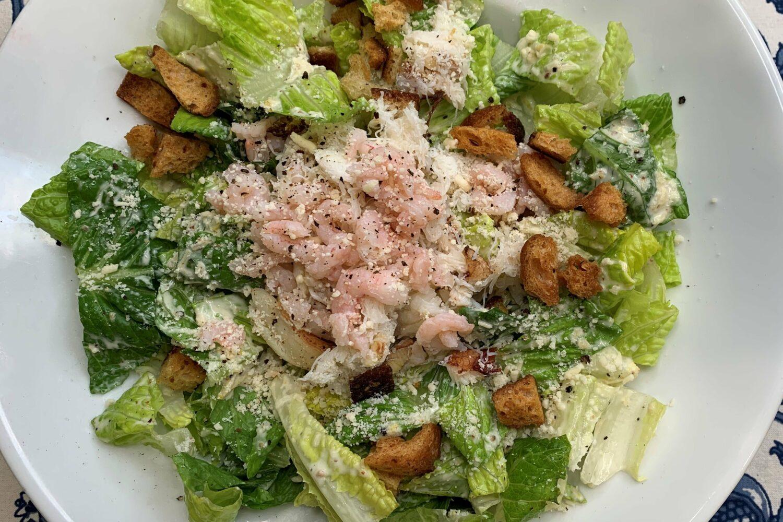 Dungeness Crab and Shrimp Caesar Salad