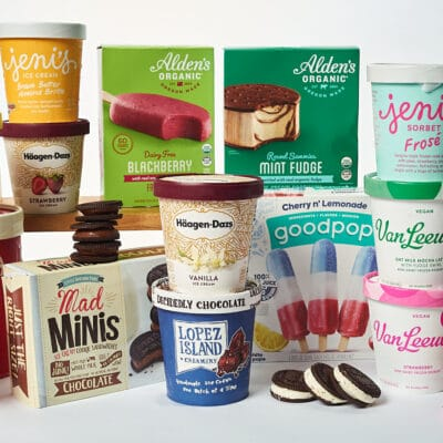 photo of many gourmet ice creams offered by Zupan's markets