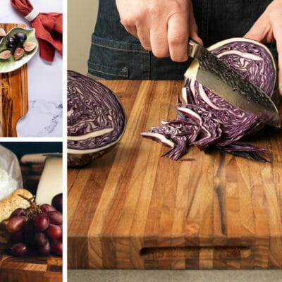 Collage of teakhaus cutting boards
