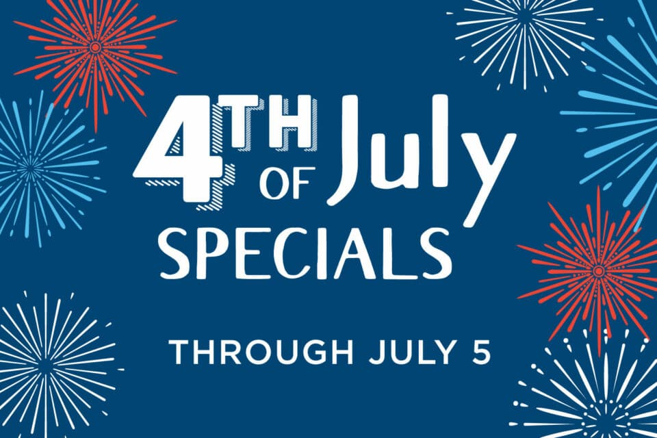 4th of July specials banner