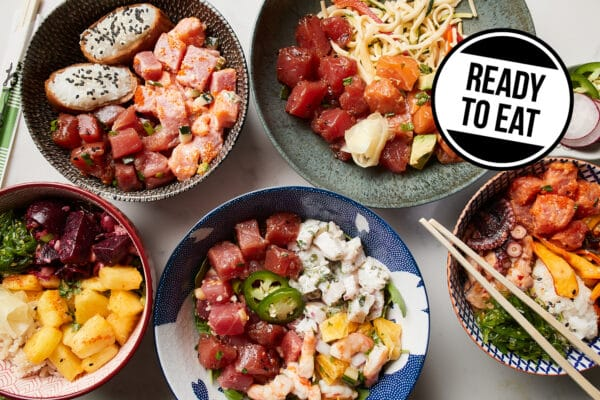 photos of poke bowls from Zupan's