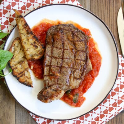 Ribeye steak dinner from Zupan's