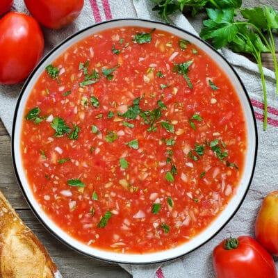 Tomato gazpacho from Zupan's