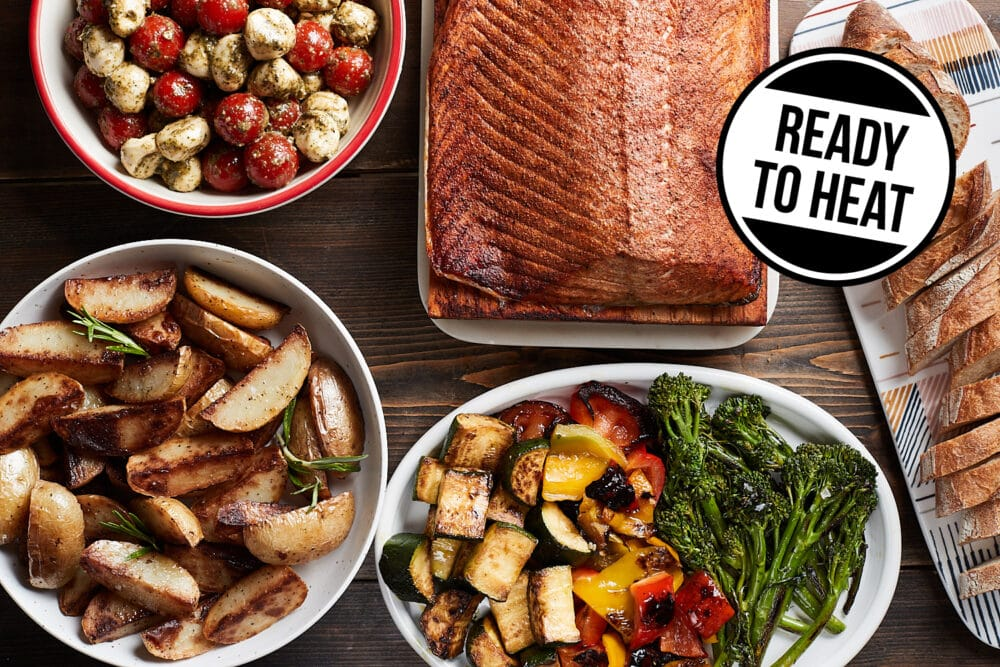 Ready to eat salmon dinner meal kit from Zupans